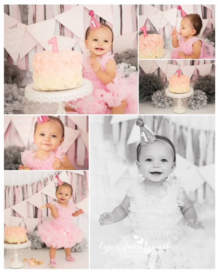 MA First Birthday Photography The Queens Cups Cake smash