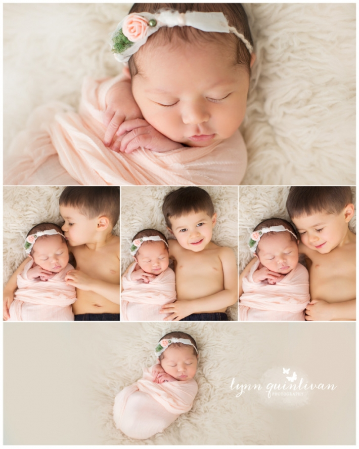 Massachusetts Newborn Photographer Siblings Beautiful Big Brother Sister