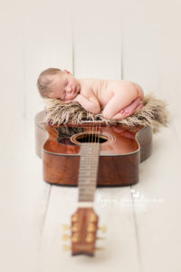Music Themed Newborn Photography