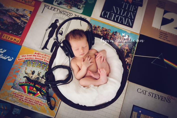 Music Themed Newborn Photos